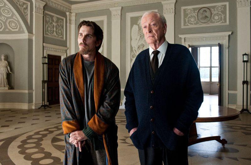 "Christian Bale as Bruce Wayne and Michael Caine as Alfred in Warner Bros. Pictures' and Legendary Pictures' action thriller ""THE DARK KNIGHT RISES,"" a Warner Bros. Pictures release. TM; © DC Comics."