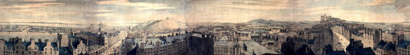 Robert Barker's Panorama of Edinburgh from Calton Hill.